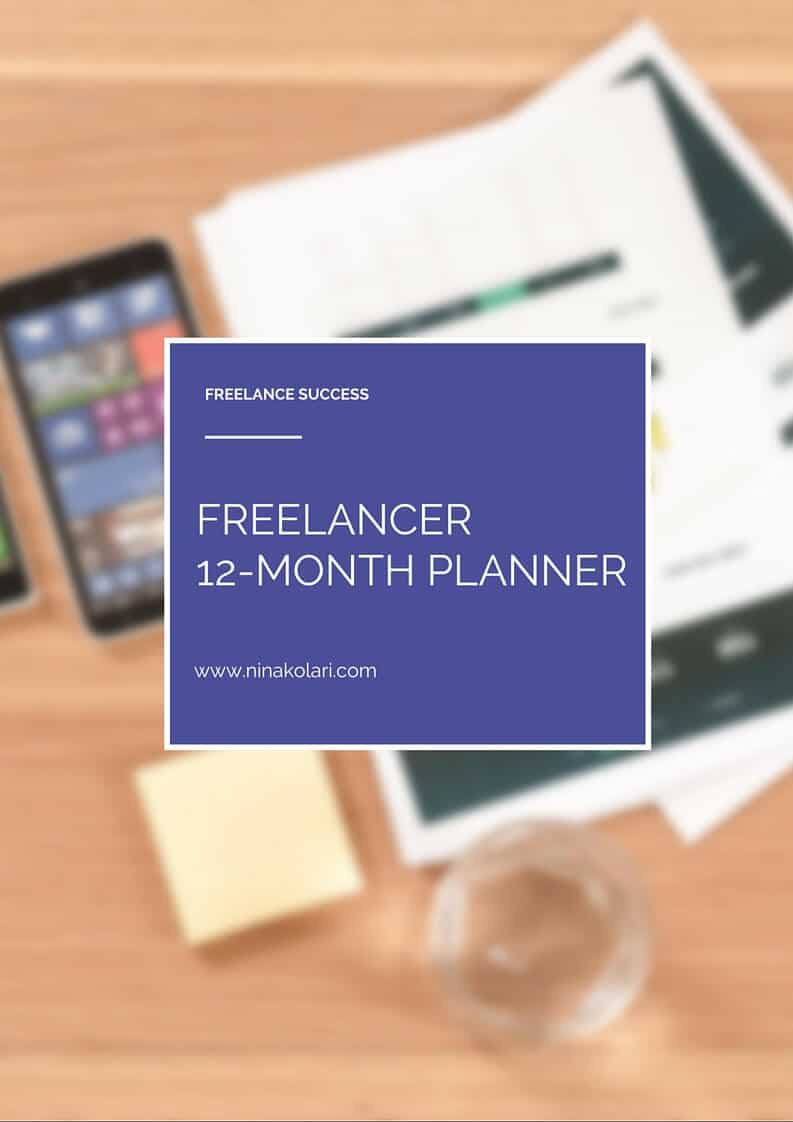 freelancer12-month planner