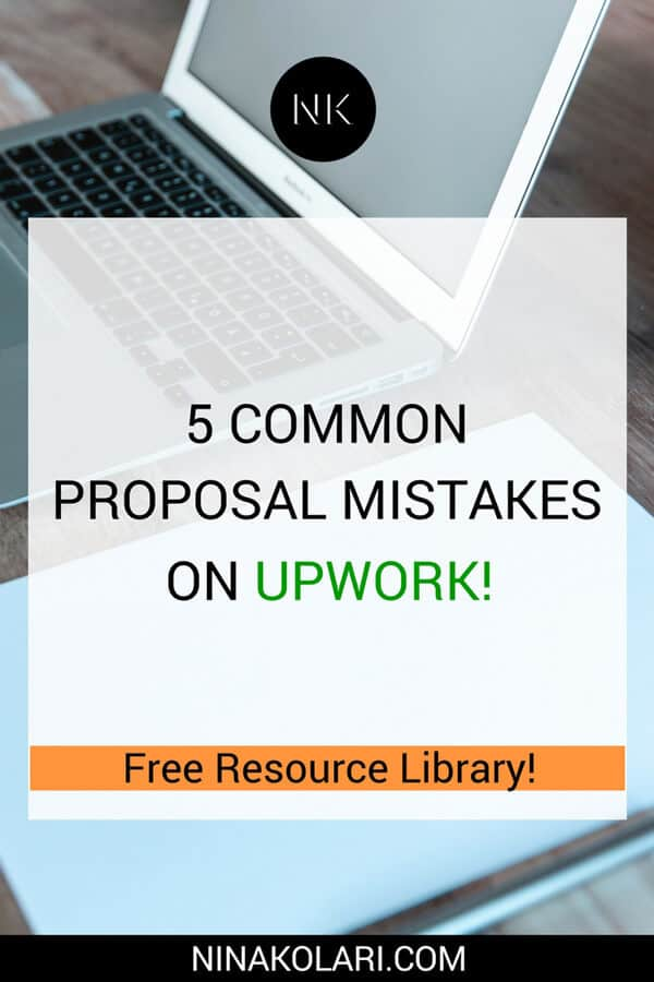 proposal mistake upwork