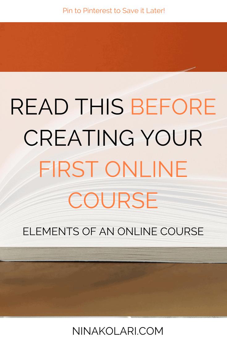 elements online course