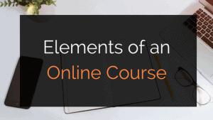 online course elements