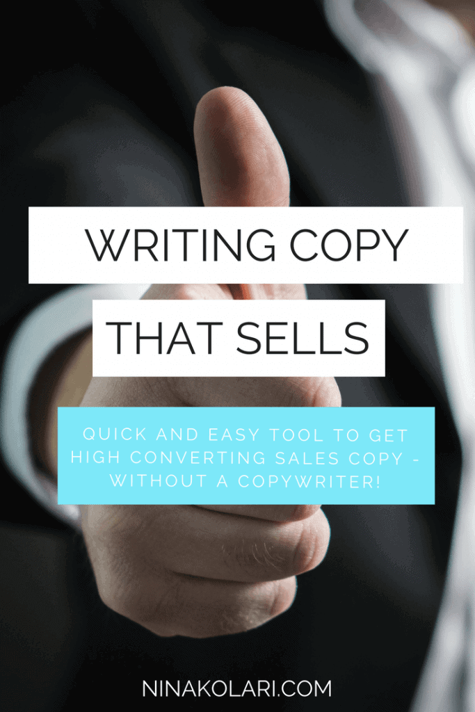WRITING COPY THAT SELLS