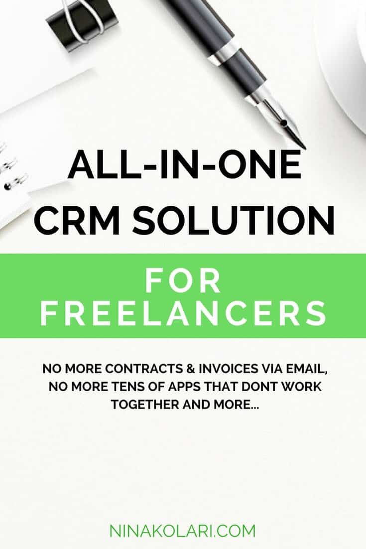 Do you send contracts as emails, do invoices in Excel, project manage with Asana, use Google Forms for questionnaires, and use many other apps just to manage your clients? If this dare I say mess sounds familiar, you are not alone! Many freelancers and service based entrepreneurs end up with numerous apps and tools just to manage clients. Good news is that I have better solution for you. Here\'s best freelancer and service-based entrepreneurs CRM system to use that provides all-in-one solution.