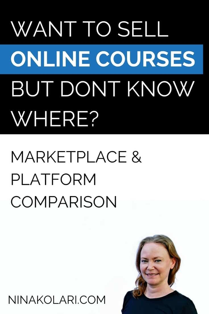 Want to sell online courses but don\'t know where? Read my personal experience and comparison of the major course marketplaces and platforms. Free Trial Offers included! #onlinecourse