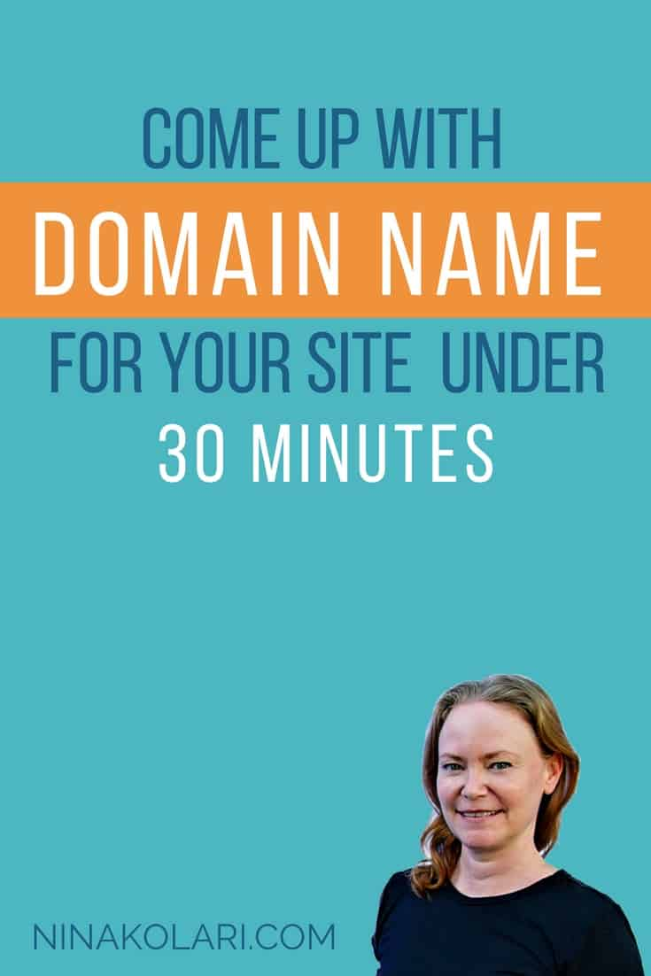 People don\'t buy from you because of your catchy domain, they buy from you because you have a site and they trust you. How to Come Up With Domain Name in under 30 Minutes #onlinebusiness