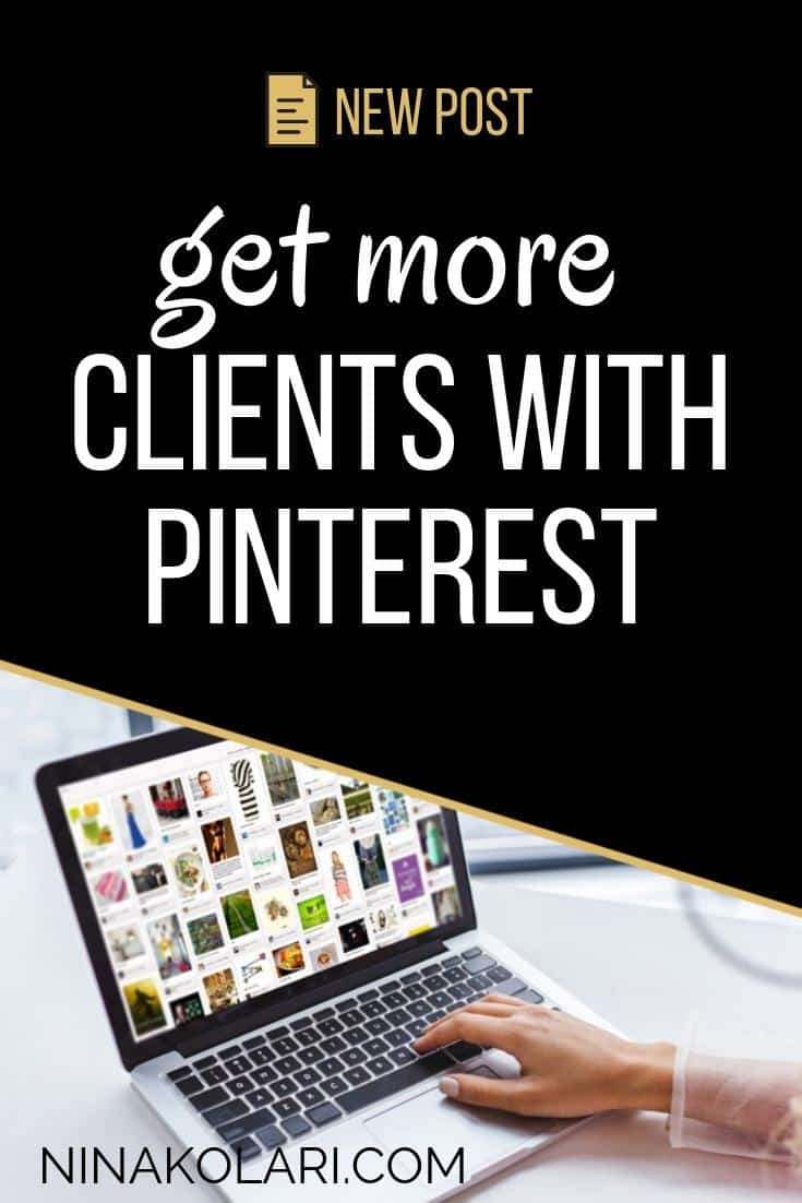 How I use Pinterest to Get More Clients (+ 8 tips to help you do the same!) #moreclients #onlinebusiness #businesscoach