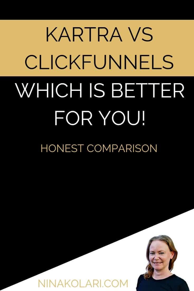 Kartra vs Clickfunnels – an Honest Comparison #kartra #comparison #clickfunnels
