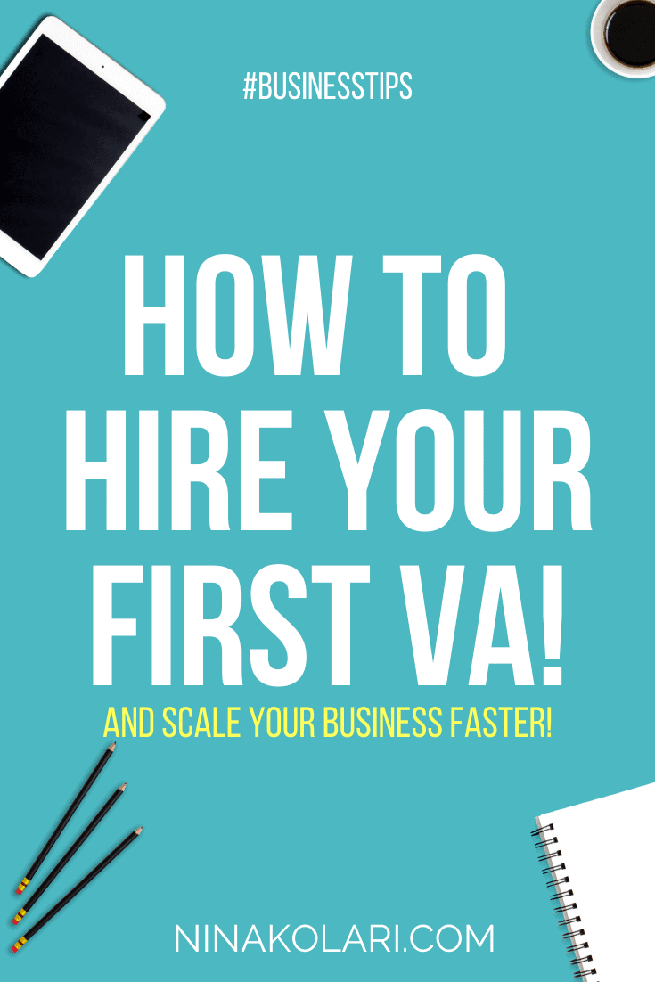 About to hire your first virtual assistant? Exciting times! This post gives you 7 steps how to hire a VA that helps you scale. #hireavirtualassistant #virtualassitant #onlinebusiness