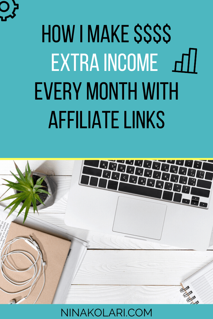 HOW I MAKE $$$$ extra income  every month with affiliate links and you can too! #affiliatemarketing #passiveincome #onlinebusiness #bloggingformoney