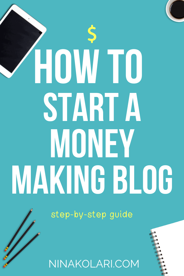 Step-by-step instructions how you can start your own blog. There\'s couple of blog types I DONT recommend you start - click to read what those are. #blogging #makemoneyblogging