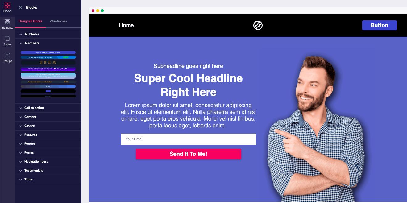 groovefunnels homepage